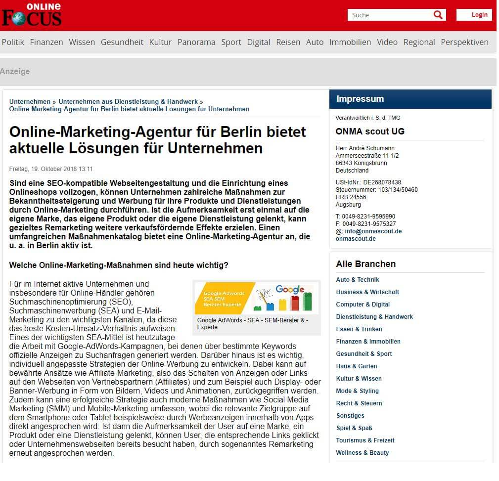 Online Marketing Agentur Berlin
