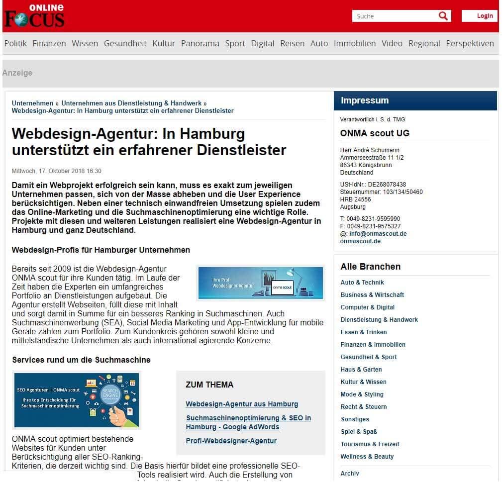 Webdesign Agentur Hamburg